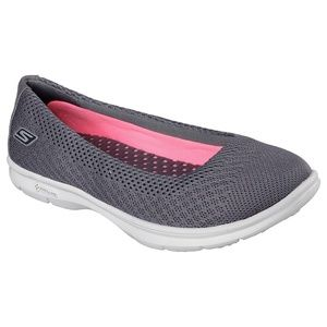 SKECHERS GO STEP - PRIMARY Charcoal Slip-Ons • 9